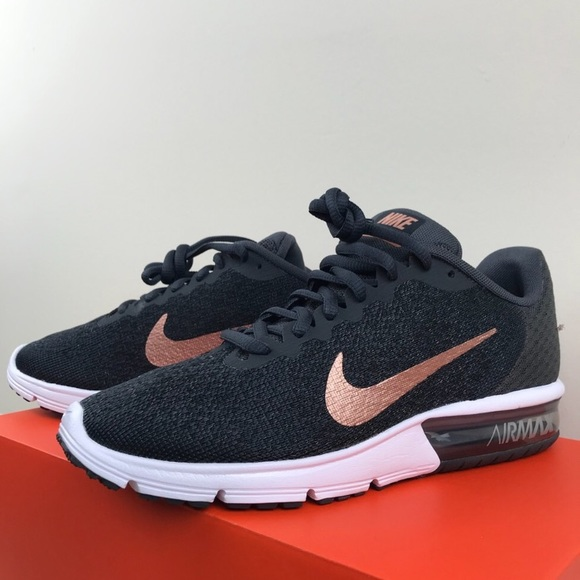 62ca037c11d14 NIB Nike Air Max Sequent 2 black   rose gold RARE!